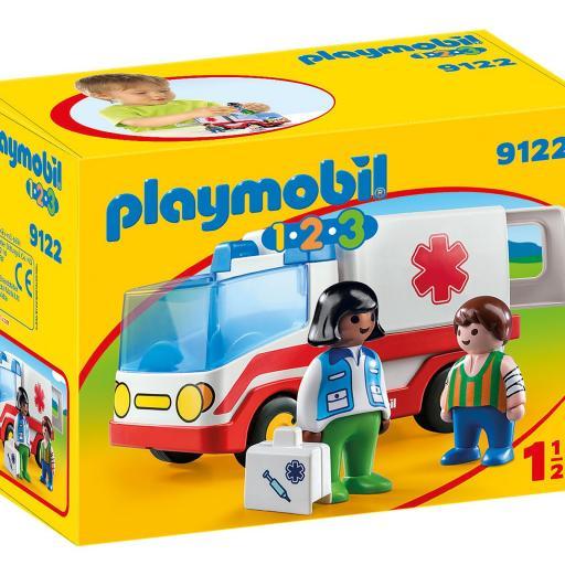 PLAYMOBIL 9122  1.2.3 AMBULANCIA