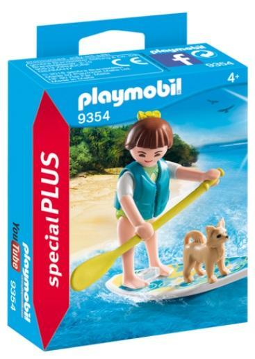 PLAYMOBIL  9354 PADDLING REMO SOBRE TABLA SURF
