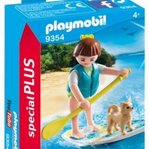 ​PLAYMOBIL  9354 PADDLING REMO SOBRE TABLA SURF