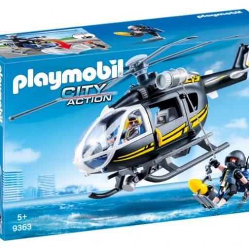 PLAYMOBIL 9363 HELICOPTERO FUERZAS ESPECIALES