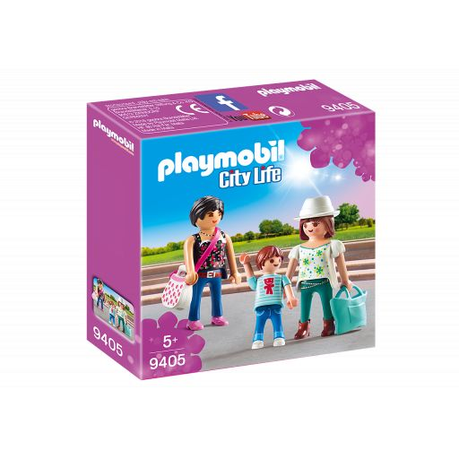 PLAYMOBIL 9405 CHICAS CON NIÑO DE COMPRAS