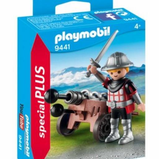 PLAYMOBIL 9441 SPECIAL  CABALLERO CON CAÑON