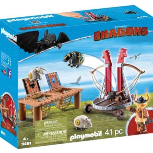 PLAYMOBIL 9461 DRAGONS  BOCON CON LANZADERA DE OVEJAS