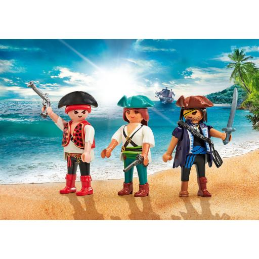 PLAYMOBIL 9884  TRES  PIRATAS