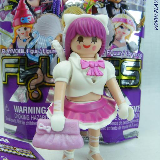PLAYMOBIL SERIE 17 CHICAS COSPLAY CHICA GATO