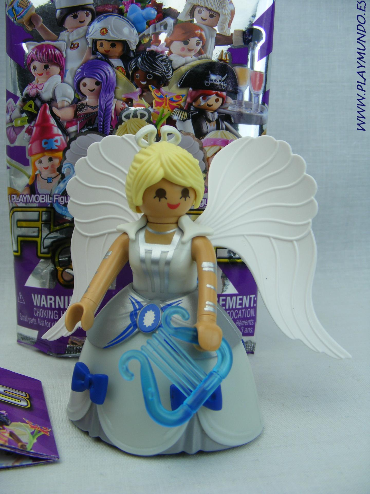 PLAYMOBIL SERIE 17 CHICAS ANGEL CON ARPA