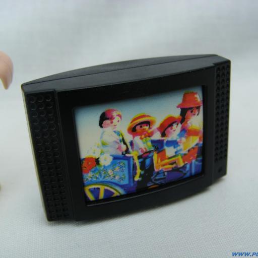 PLAYMOBIL TELEVISION NEGRA MOD2
