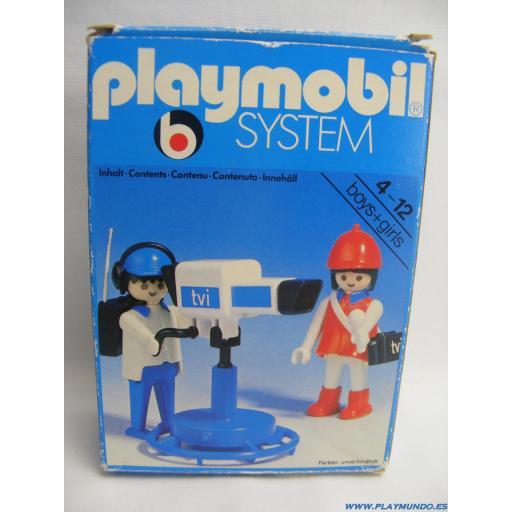 PLAYMOBIL 3571 REPORTERA CON CAMARA  (AÑO 1979 - 1985) [3]