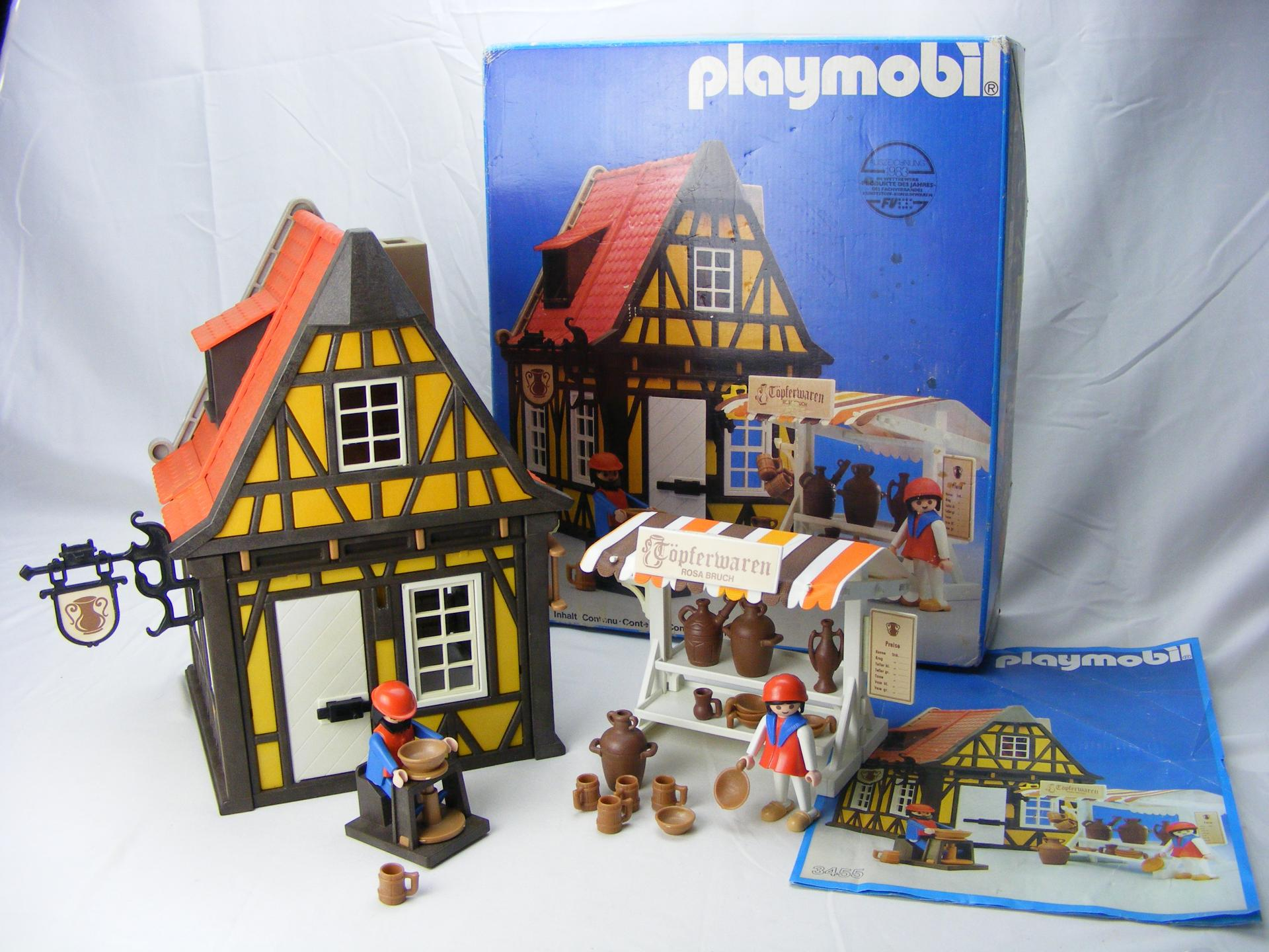 PLAYMOBIL 3455 ALFARERIA MEDIEVAL CON PUESTO ((AÑO 1982 - 1993))