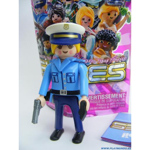 PLAYMOBIL SERIE 19 CHICAS  POLICIA