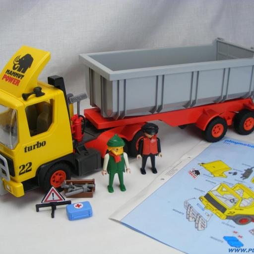 PLAYMOBIL 3141 CAMION VOLQUETE ( AÑO 1986 - 2002)