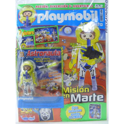 PLAYMOBIL REVISTA PLAYMOBIL BLUE Nº41 ASTRONAUTA CON PISTOLA DE RAYOS