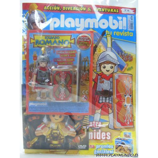 PLAYMOBIL REVISTA PLAYMOBIL BLUE Nº25 TRIBUNO ROMANO SOLDADO CON ESPADA Y ESCUDO [3]