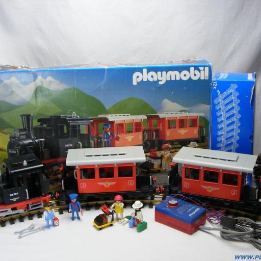 PLAYMOBIL 4001 TREN FERROCARRIL (AÑO 1988 - 1994)