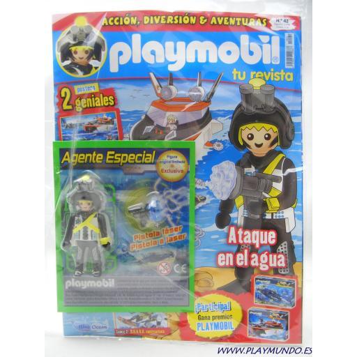 PLAYMOBIL REVISTA BLUE Nº42 AGENTE ESPECIAL