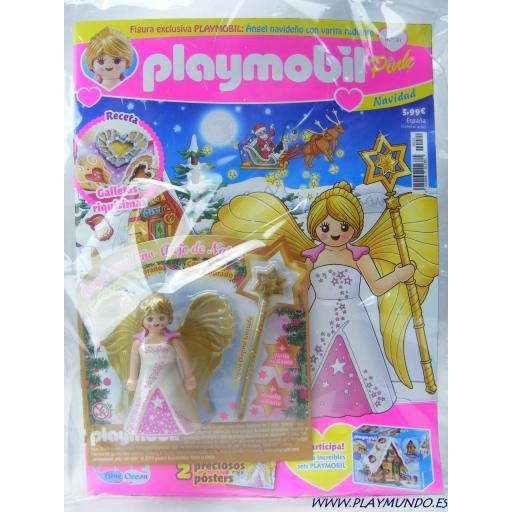 PLAYMOBIL REVISTA PLAYMOBIL PINK Nº21 ANGEL NAVIDEÑO CON VARITA RADIANTE [1]