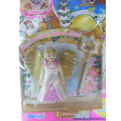 PLAYMOBIL REVISTA PLAYMOBIL PINK Nº21 ANGEL NAVIDEÑO CON VARITA RADIANTE [2]