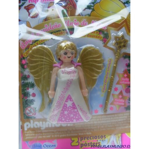 PLAYMOBIL REVISTA PLAYMOBIL PINK Nº21 ANGEL NAVIDEÑO CON VARITA RADIANTE [3]