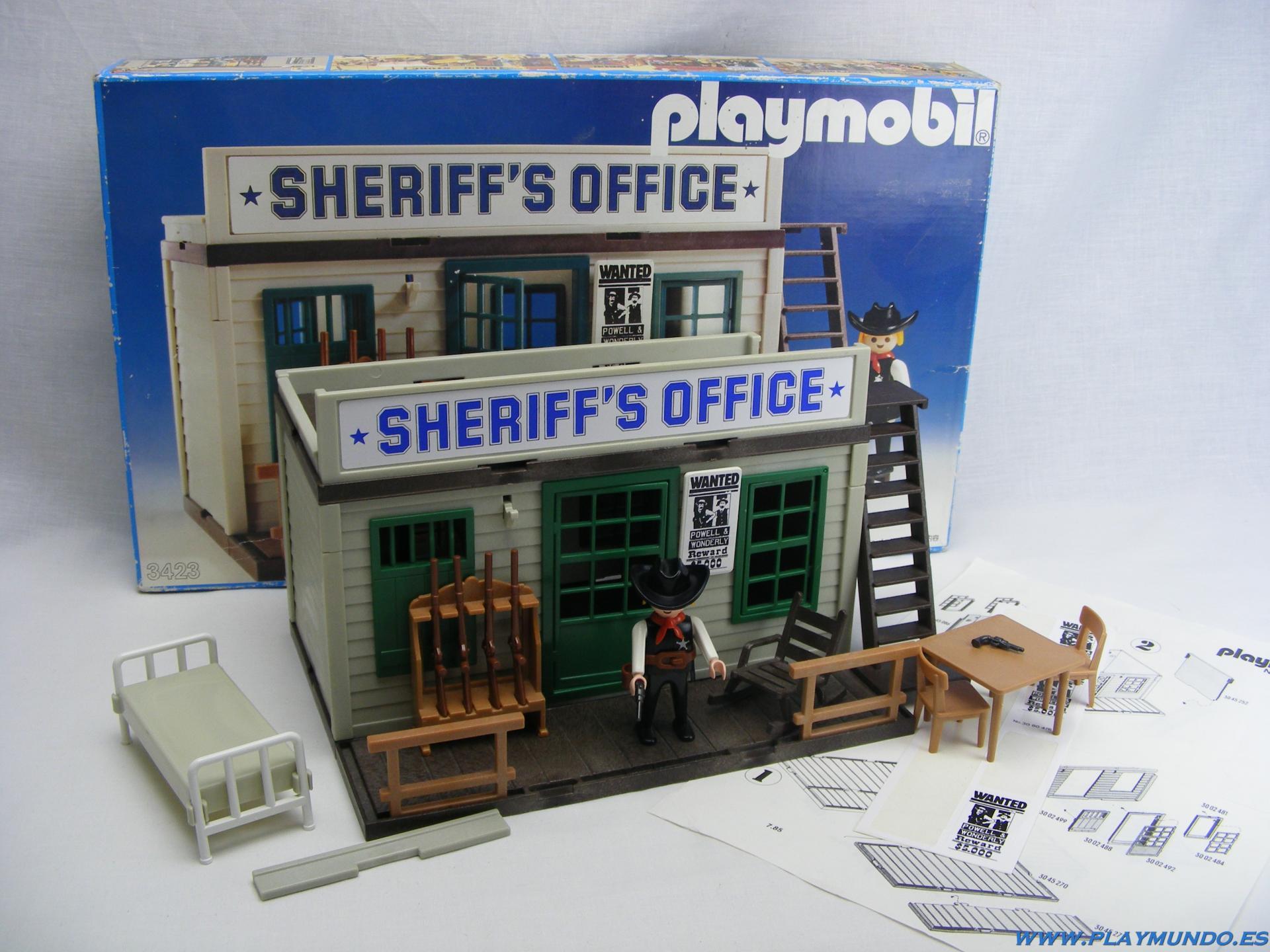 PLAYMOBIL 3423 OFICINA DEL SHERIFF (3ª VERSION, AÑO 1983 - 1988)