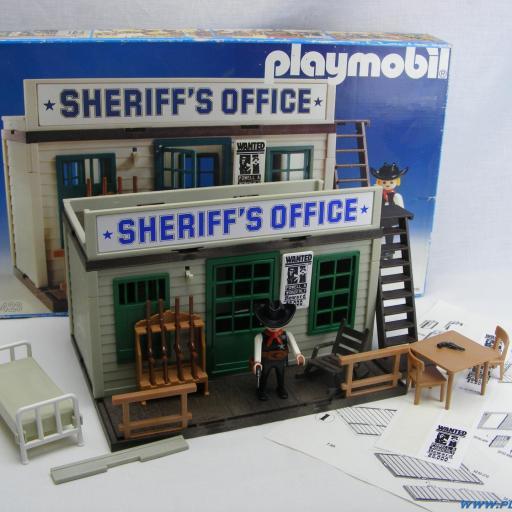 PLAYMOBIL 3423 OFICINA DEL SHERIFF (3ª VERSION, AÑO 1983 - 1988) [0]