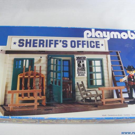 PLAYMOBIL 3423 OFICINA DEL SHERIFF (3ª VERSION, AÑO 1983 - 1988) [3]