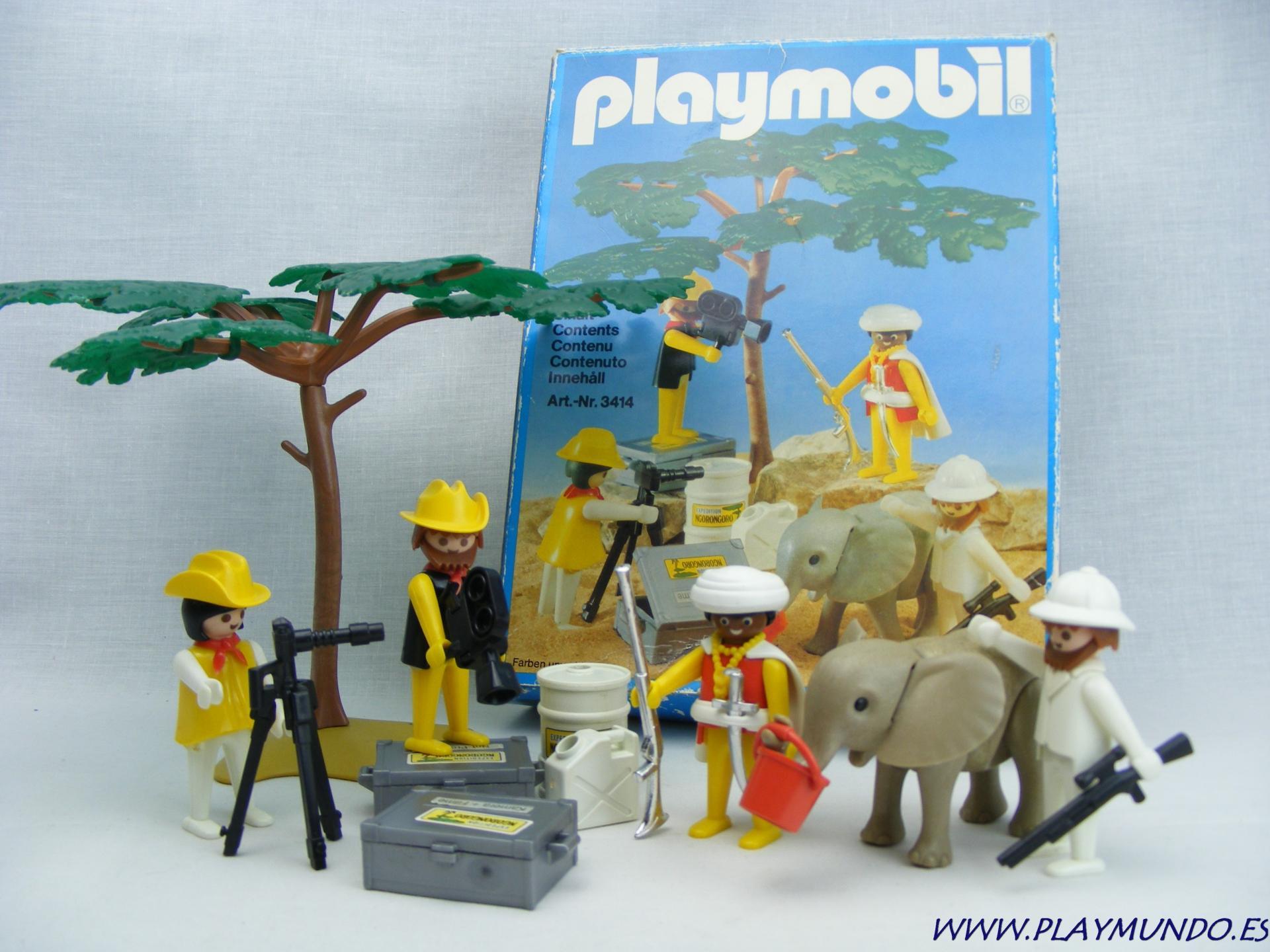 PLAYMOBIL 3414 FILMANDO EN SAFARI (AÑO 1980)