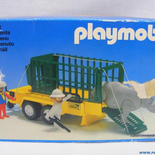 PLAYMOBIL 3529 REMOLQUE RINOCERONTE EXPEDICION SABANA (1980 - 1986) [2]