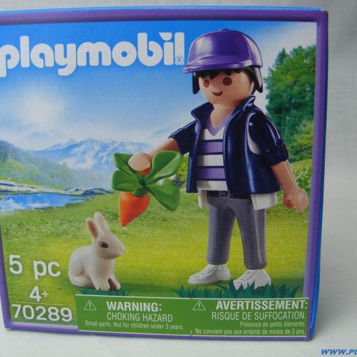 PLAYMOBIL 70289 EDICION MILKA CHICO CON CONEJO