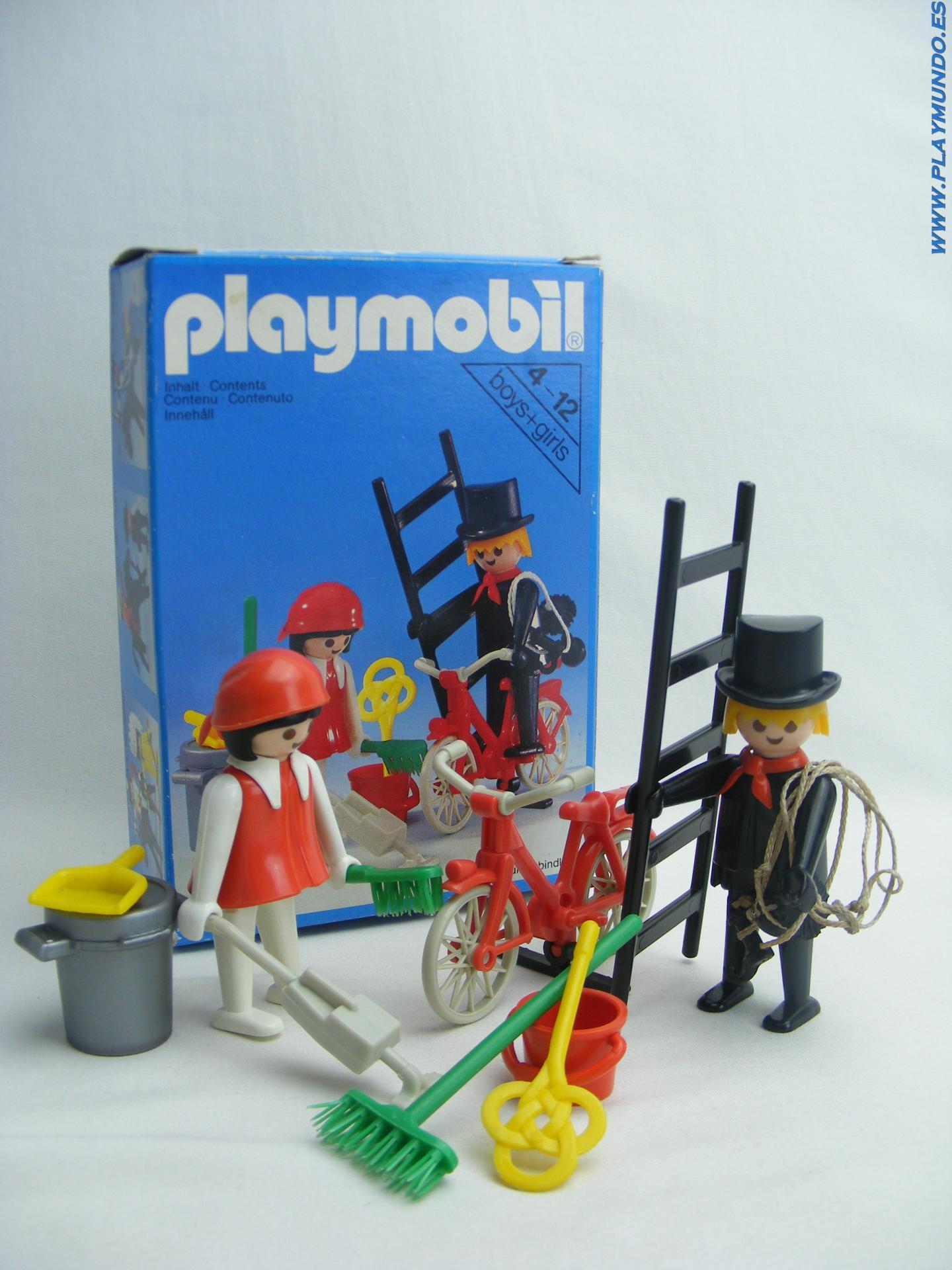 PLAYMOBIL 3576 DESHOLLINADOR Y SEÑORA DE LA LIMPIEZA (AÑO 1980)