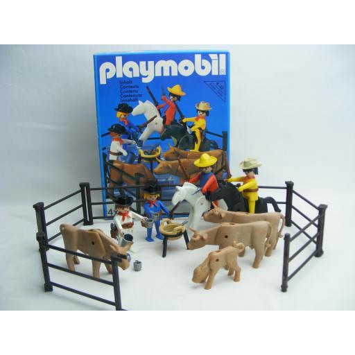 PLAYMOBIL 3484 VAQUEROS OESTE (VERSION 1  AÑO 1980)