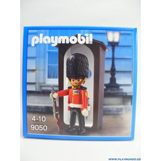 PLAYMOBIL 9050 GUARDIA REAL BRITANICO CON GARITA (AÑO 2016)