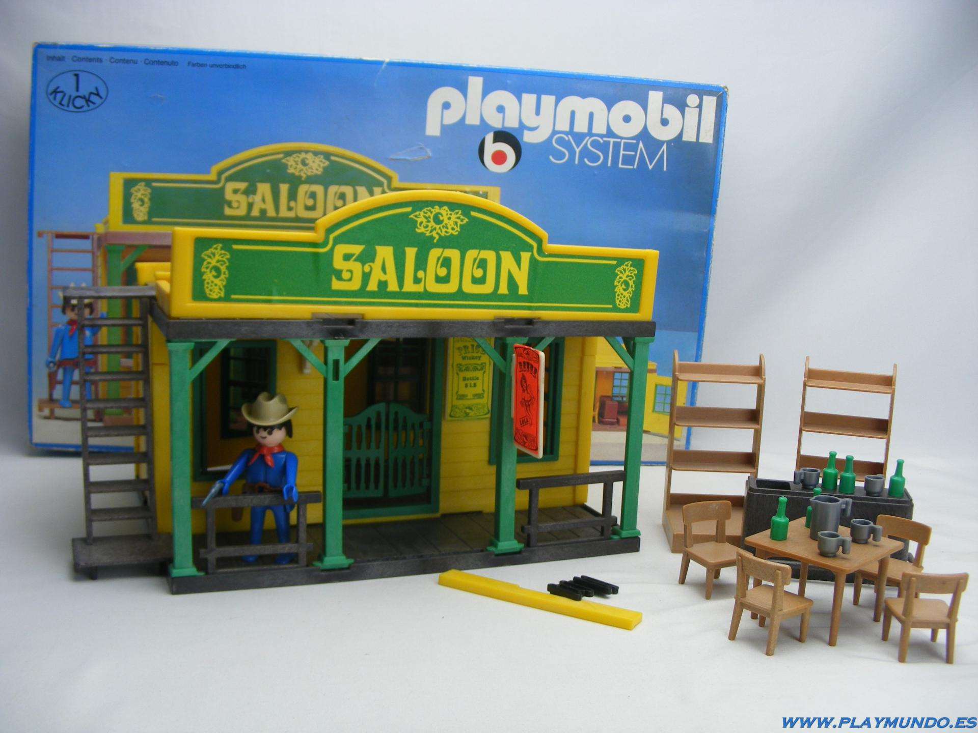 PLAYMOBIL 3425 SALOON OESTE WESTERN  (1976 - 1981)