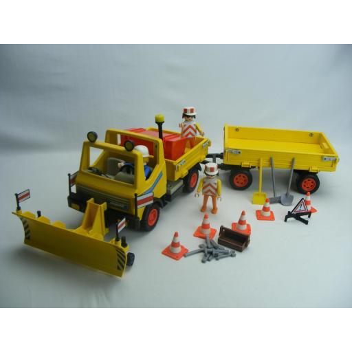 PLAYMOBIL 3454 CAMION CONSTRUCCION  (AÑO 1986 - 1992)