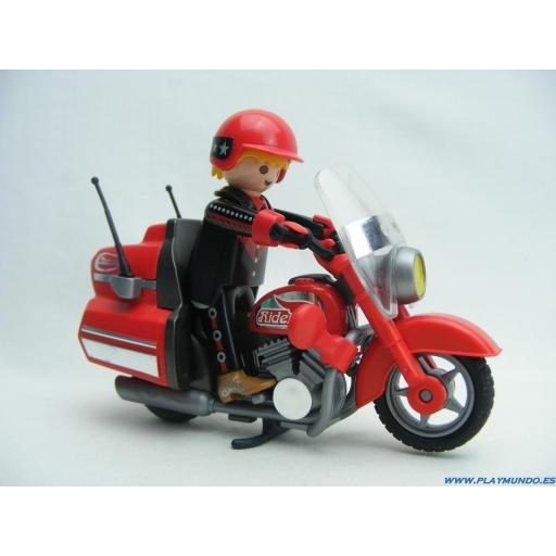 PLAYMOBIL 3062 MOTORISTA EN CARRETERA  (AÑO 1999 - 2004)