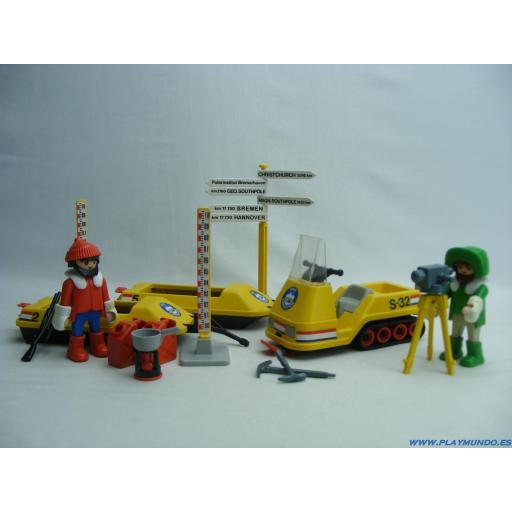 PLAYMOBIL 3464 MOTO DE NIEVE EXPEDICION POLAR (AÑO 1986 - 1990)
