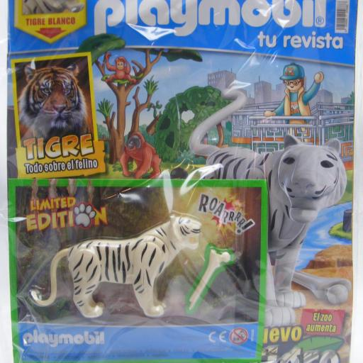 PLAYMOBIL REVISTA BLUE Nº55 TIGRE BLANCO ( JUNIO 2021)