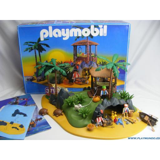 PLAYMOBIL 3799 ISLA PIRATA (VERSION 2, AÑO 1997 - 1999)