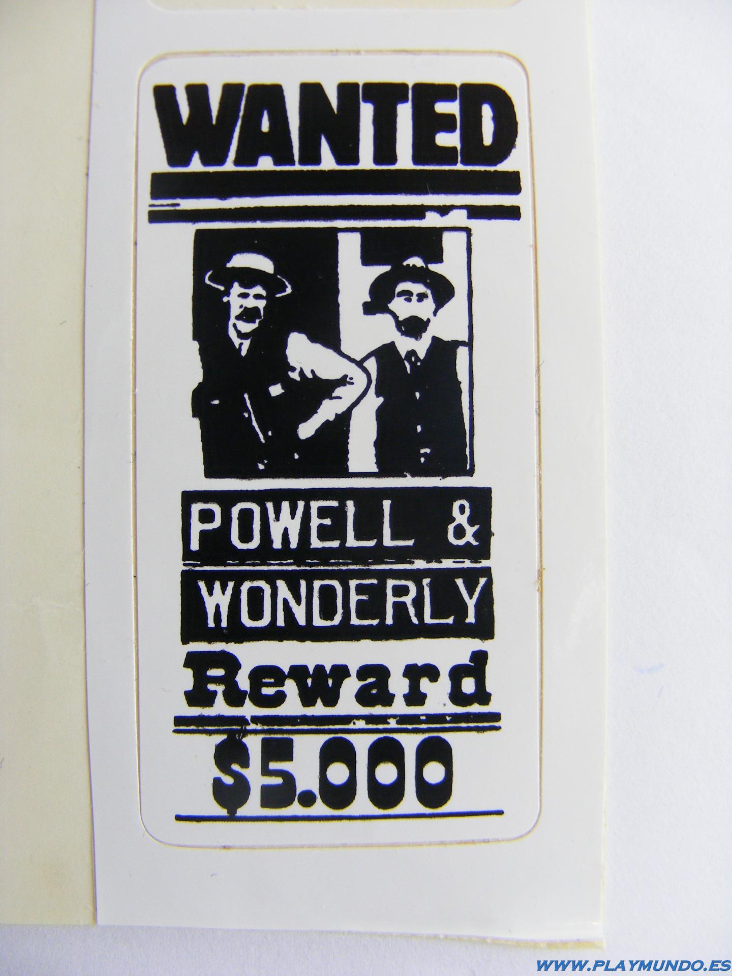 PLAYMOBIL PEGATINA CARTEL OFICINA SHERIFF 3423