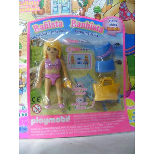 PLAYMOBIL REVISTA PLAYMOBIL PINK Nº18 BAÑISTA CON PAREO Y BOLSO DE PLAYA [2]