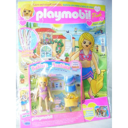 PLAYMOBIL REVISTA PLAYMOBIL PINK Nº18 BAÑISTA CON PAREO Y BOLSO DE PLAYA [3]