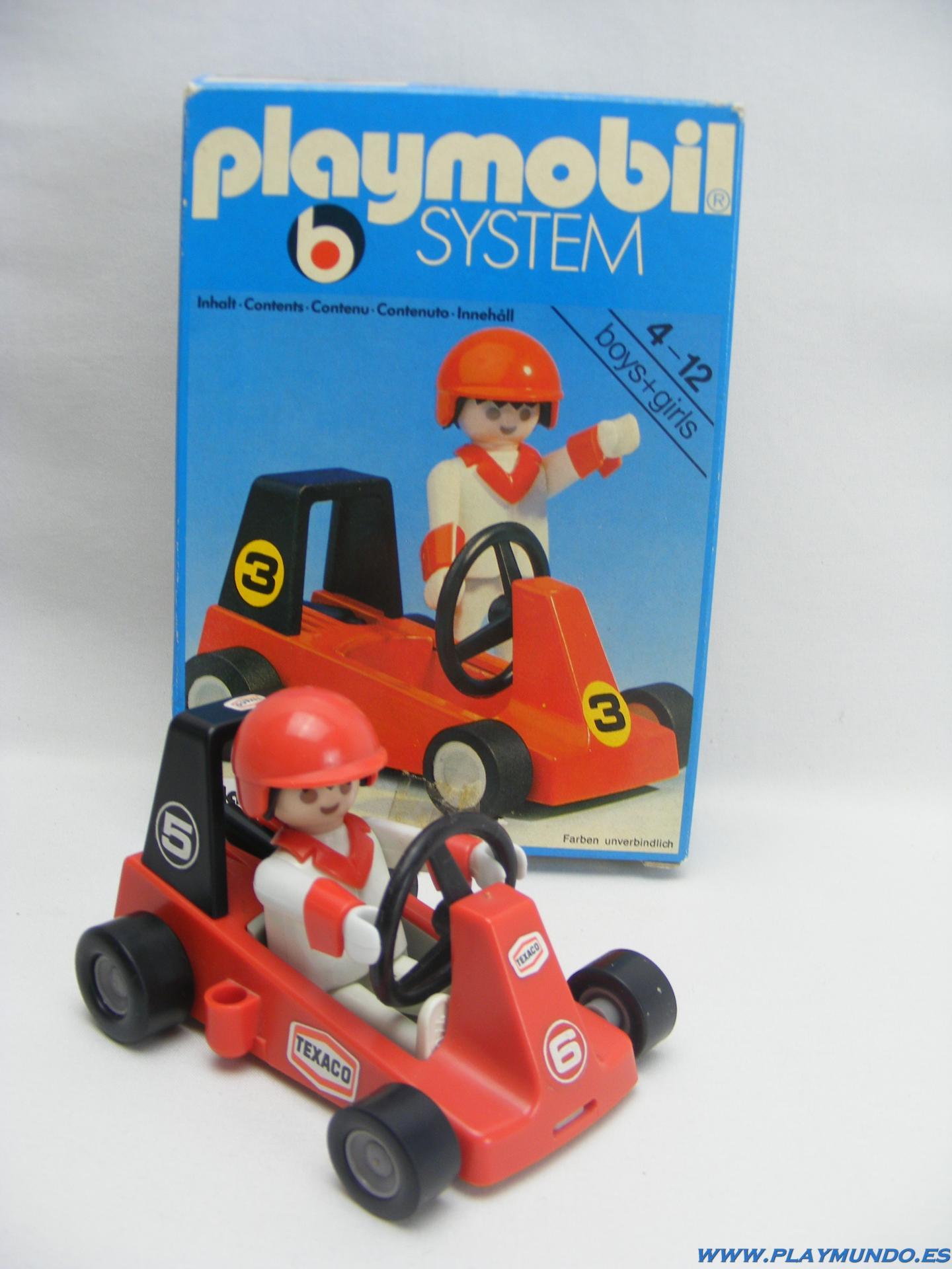 PLAYMOBIL 3575  KART  CARRERAS (VERSION 2, AÑO 1980 - 1985)