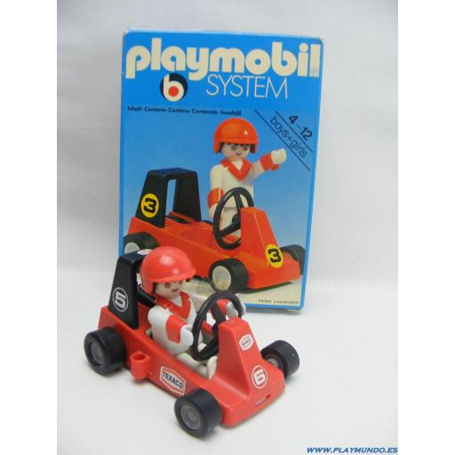 PLAYMOBIL 3575  KART  CARRERAS (VERSION 2, AÑO 1980 - 1985)