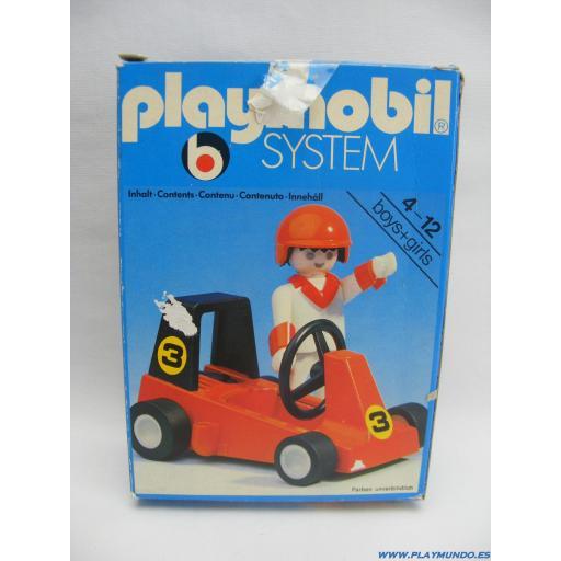 PLAYMOBIL 3575  KART  CARRERAS (VERSION 2, AÑO 1980 - 1985) [3]