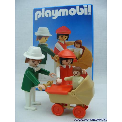 PLAYMOBIL 3592 FAMILIA CON CARRITO (AÑO 1984 - 1991)