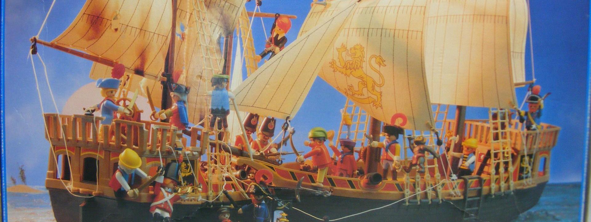 PLAYMOBIL 3750 BARCO PIRATA (1988 - 1999)