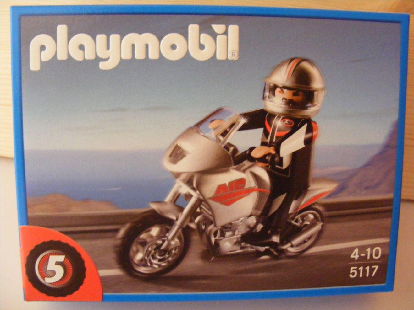 PLAYMOBIL 5117 MOTO NAKED MOTORISTA CARRETERA