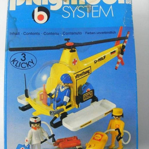PLAYMOBIL 3247 HELICOPTERO DE RESCATE  PRIMERA EPOCA VERSION 1 (1977-1981) [2]