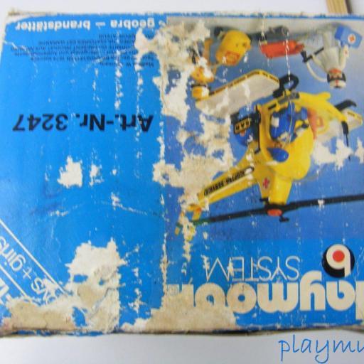PLAYMOBIL 3247 HELICOPTERO DE RESCATE  PRIMERA EPOCA VERSION 1 (1977-1981) [3]