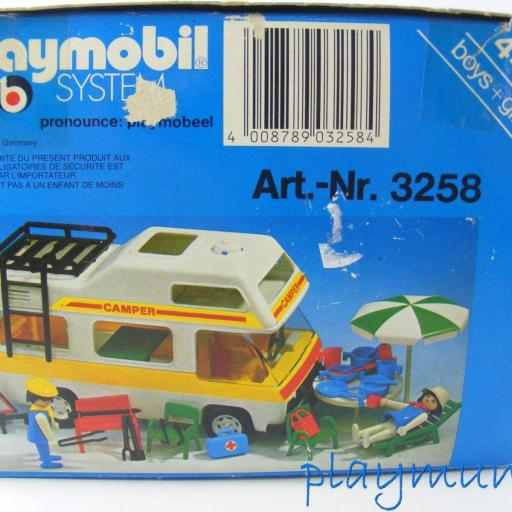PLAYMOBIL 3258 FURGONETA CAMPING (AÑO 1979-1988) VERSION 1 [3]