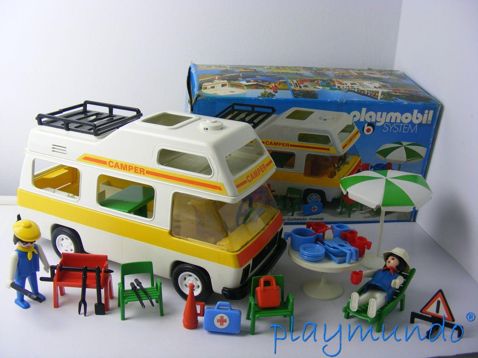PLAYMOBIL 3258 FURGONETA CAMPING (AÑO 1979-1988) VERSION 1